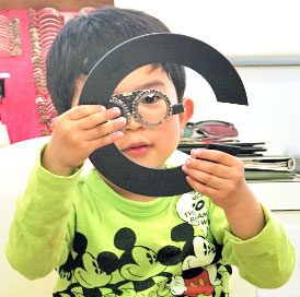 子どもの検査の写真